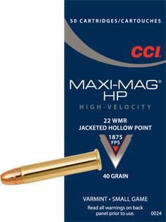 CCI 22 WMR Maxi Mag 40gr Ammunition