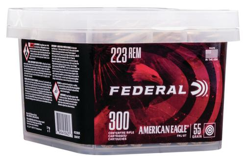 Federal Ammunition American Eagle Rifle 223 Rem 300 Round Bucket