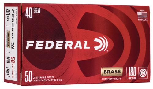 Federal Ammunition Champion Training 40 Smith and Wesson 180gr 50 Count