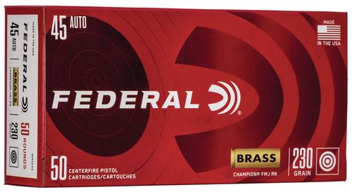 Federal Ammunition Champion Training 45 Auto 230gr 50-Count