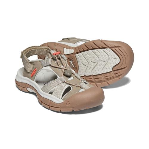 Keen Women's Ravine H2 Sandaln in Safari and Coral