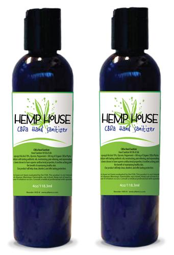 HempHouse CBDa Hand Sanitizer with Oil of Life 4oz Bottle - Two Pack
