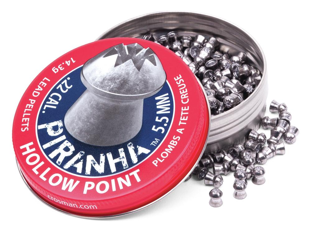 Crosman .22 Piranha Hollowpoint 14.3 Gr Premier Pellets 400ct