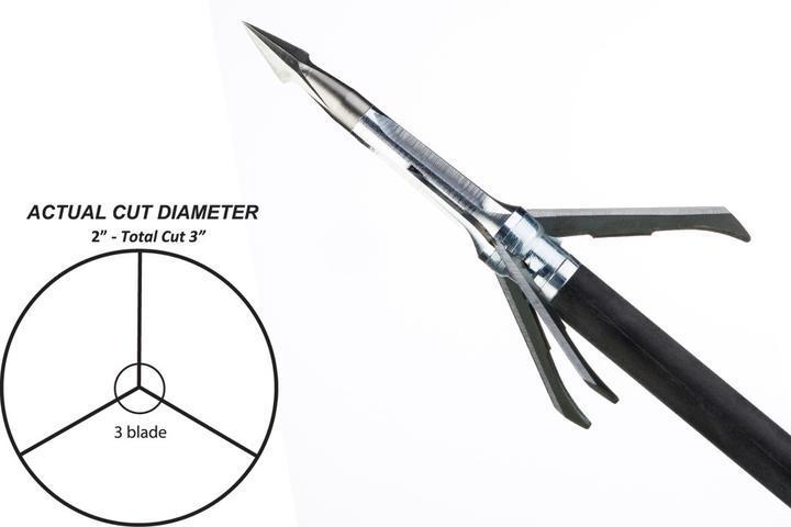 Grim Reaper Pro Whitetail 100gr Mechanical 3 Blade Broadhead
