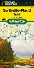 Adirondack Mountain Club Northville to Lake Placid Map