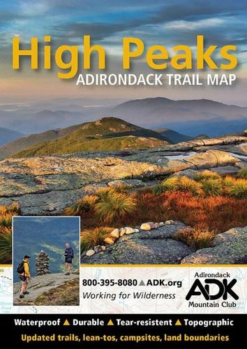 Adirondack Mountain Club High Peaks Adirondack Trail Map