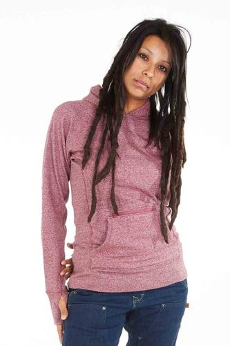 Dovetail Workwear Women's Pullover Hoody with Zip Pocket