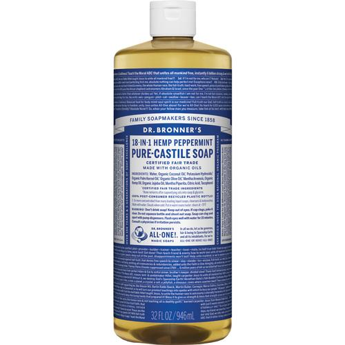 Dr Bronner's Peppermint Castile Soap 32oz