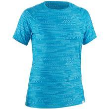 NRS Women's H2Core Silkweight Short Sleeve Shirt CYAN