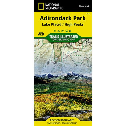National Geographic Adirondack Park Lake Placid High Peaks Map