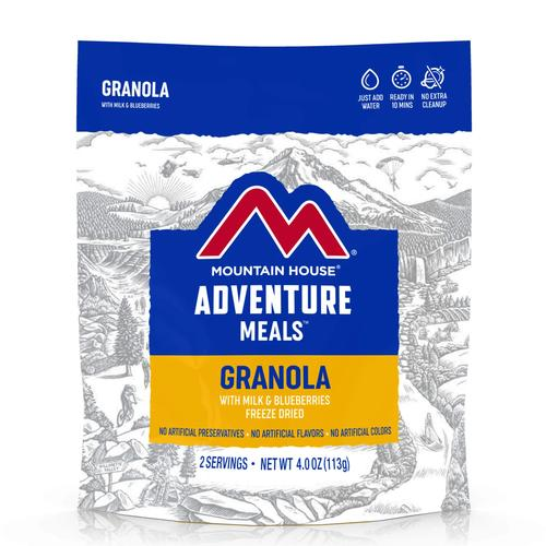Mountain House Freeze Dried Granola and Blueberries with Milk