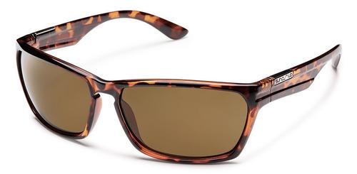 Suncloud Optics Cutout Sunglasses Tortoise Frames with Polarized Brown Lenses