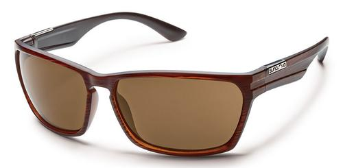 Suncloud Optics Cutout Sunglasses Burnished Brown Frames with Polarized Brown Lenses
