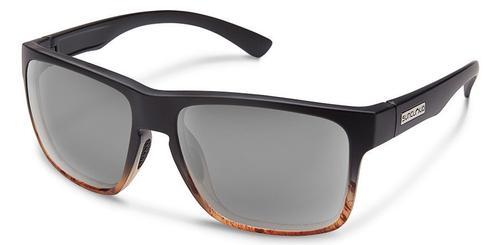 Suncloud Optics Rambler Sunglasses Black Tortoise Fade Frames with Polar Grey Lenses