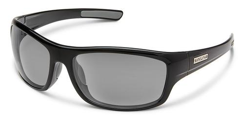 Suncloud Optics Cover Sunglasses Black Frames with Grey Lenses