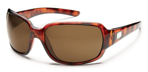Suncloud Optics Cookie Sunglasses Tortoise Frames with Brown Lenses