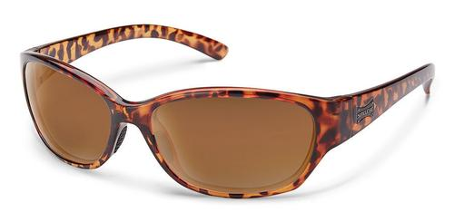 Suncloud Optics Duet Sunglasses Tortoise Frame with Brown Lenses