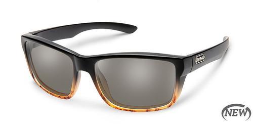 Suncloud Optics Mayor Sunglasses Tortoise Fade Frames with Grey Lenses