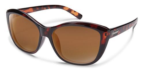 Suncloud Optics Skyline Sunglasses Tortoise Frames with Brown Lenses