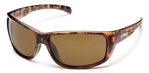 Suncloud Optics Milestone Sunglasses Matte Tortoise Frames with Brown Lenses