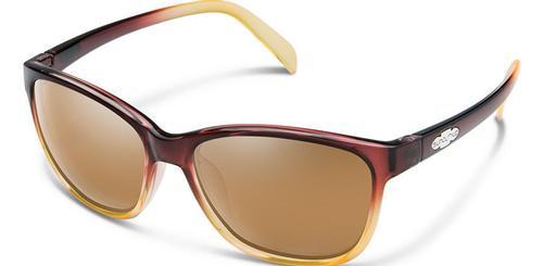 Suncloud Optics Dawson Sunglasses Brown Fade Frames with Sienna Lenses
