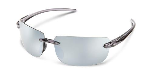 Suncloud Optics Highride Sunglasses Smoke Frames with Silver Lenses