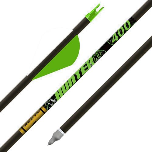 Gold Tip Hunter XT Arrows with 2-in Raptor Vanes 6-Pack