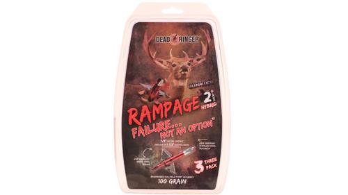 Dead Ringer Rampage 2 Blade 100gr Broadheads 1.5in 3 Pack