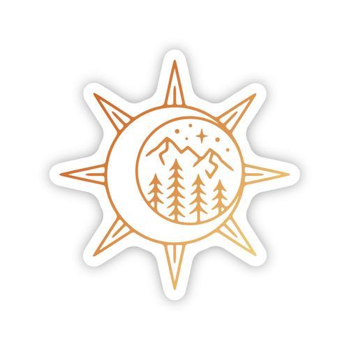 Stickers Northwest Sun and Moon Scene Sticker