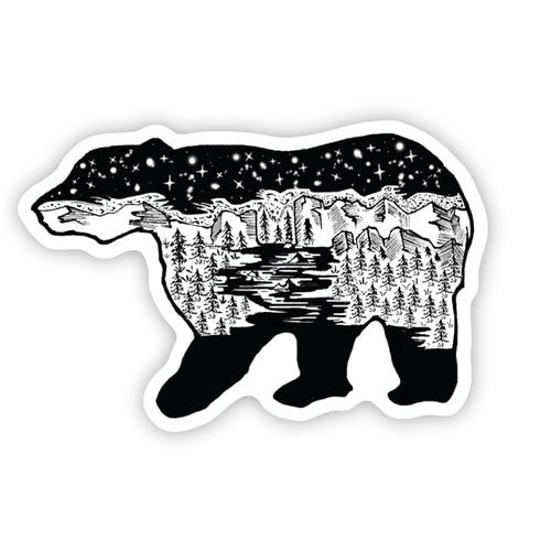 Stickers Northwest Bear Scene Sticker