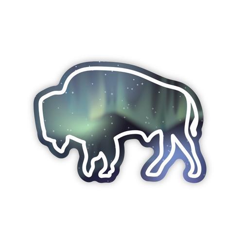 Stickers Northwest Northern Lights Buffalo Sticker
