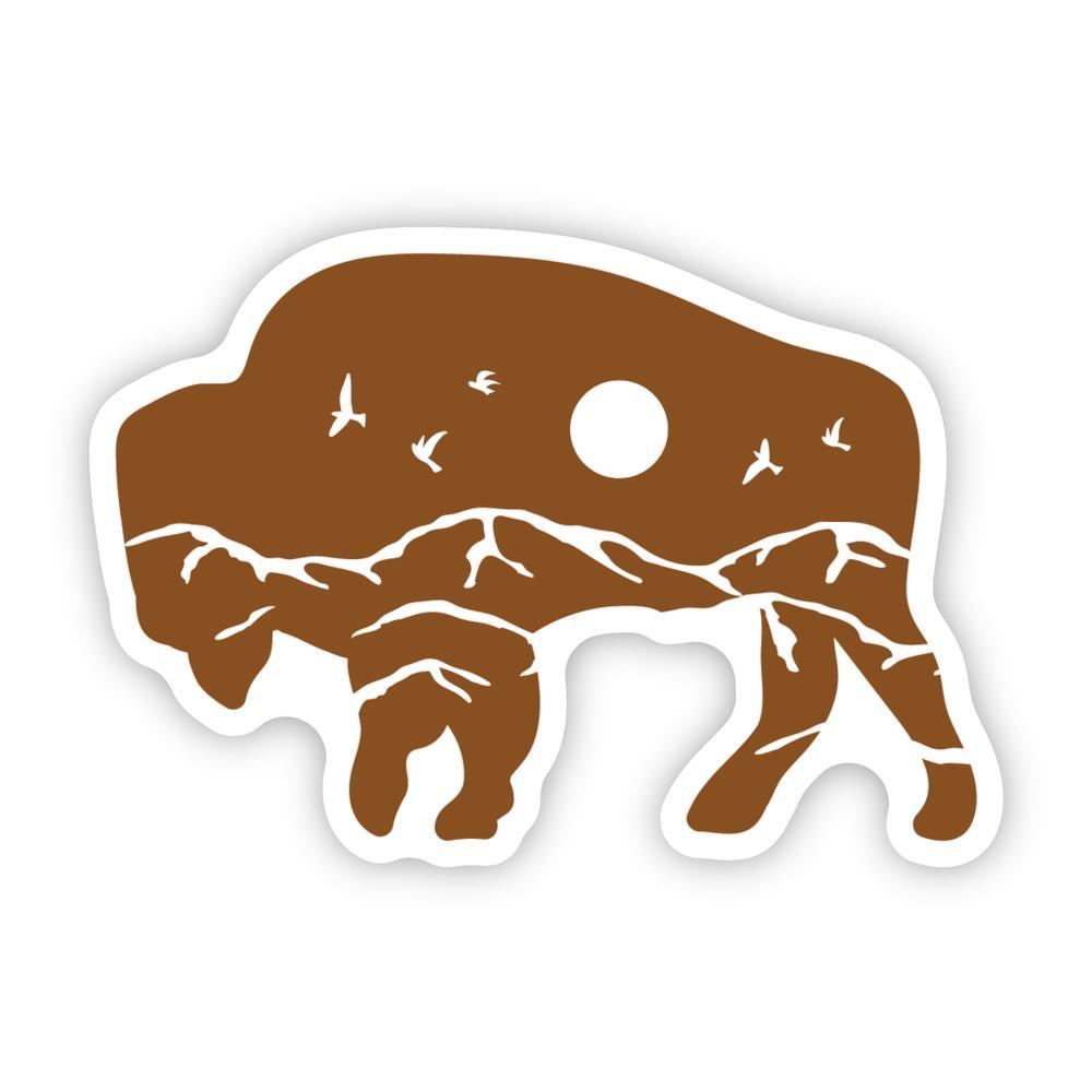 Stickers Northwest Bison Scene Sticker
