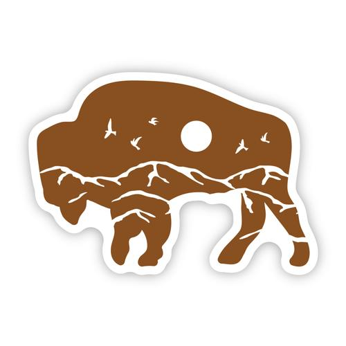 Stickers Northwest Bison Scene Sticker