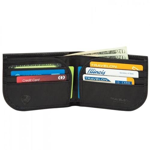 Travelon RFID Blocking Leather Front Pocket Wallet