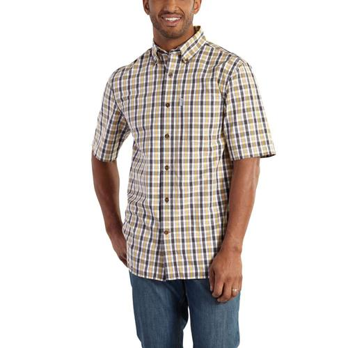 Carhartt Men's Essential Plaid Button Down Short Sleeve Shirt Tall Sizes