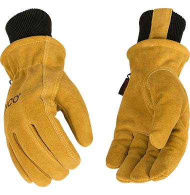Kinco 350HKP Lined Waterproof Suede Driver Gloves with Knit Wrist