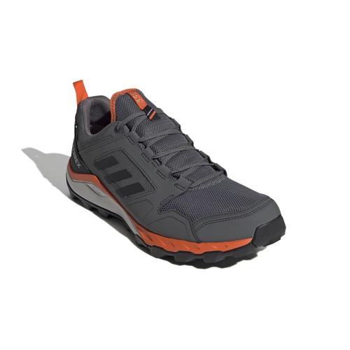 Adidas Men's Terrex Agravic TR GTX Trail Running Shoes in Grey Four and Orange