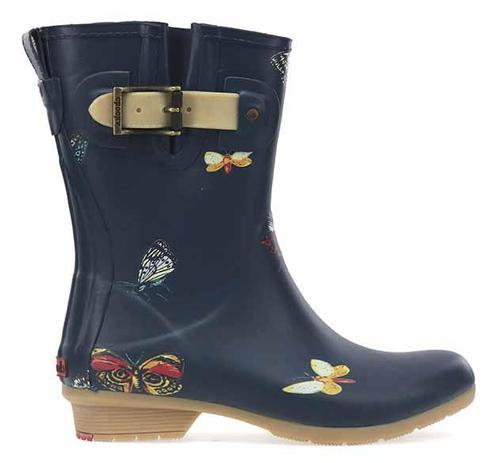 Chooka Women's Butterfly Mid Rain Boot Navy