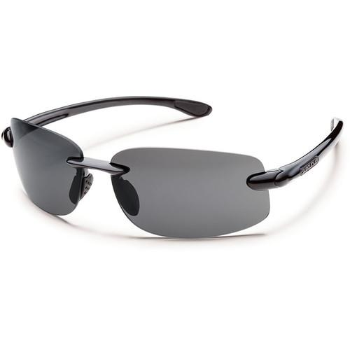 Suncloud Optics Excursion Sunglasses Black with Polarized Grey Lenses