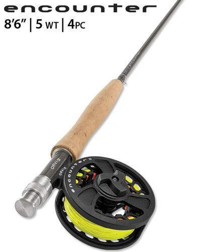 Orvis Encounter 8ft 6in 5wt 4 Piece Fly Rod Kit