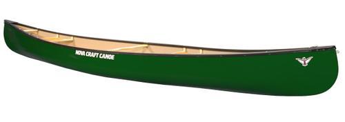 Novacraft Canoe Prospector 17 Fiberglass Canoe with Aluminum Gunwales