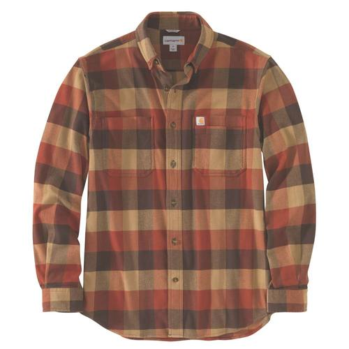 Carhartt Men's Rugged Flex Relaxed Fit Flannel Plaid Shirt Big & Tall