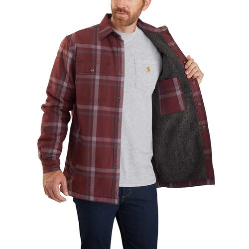 Carhartt Men's Relaxed Fit Sherpa Lined Snap Front Shirt Jac
