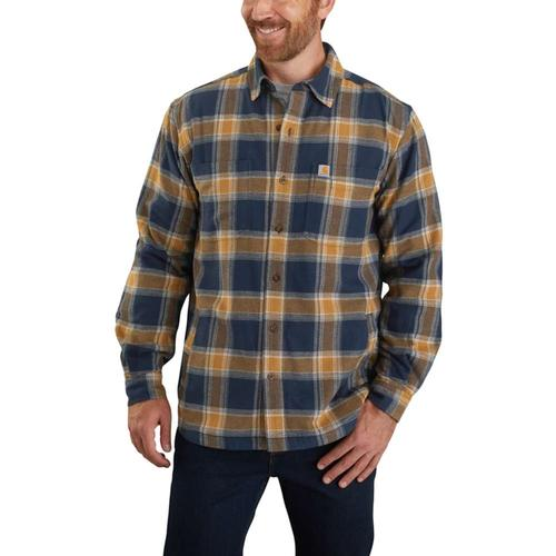 Carhartt Men's Rugged Flex Relaxed Fit Fleece Lined Flannel Plaid Shirt Big & Tall