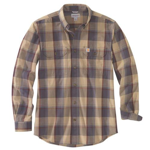 Carhartt Men's Original Fit Chambray Plaid Long Sleeve Shirt Big & Tall