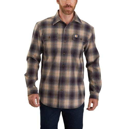 Carhartt Men's Original Fit Long Sleeve Flannel Plaid Shirt Big & Tall