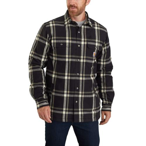 Carhartt Men's Relaxed Fit Sherpa Lined Snap Front Shirt Jac Big & Tall