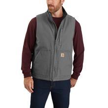 Carhartt Men's Sherpa Lined Mock Neck Vest GRAVEL