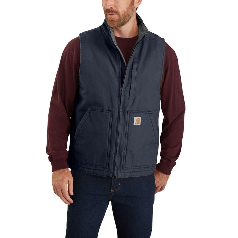 Carhartt Men's Sherpa Lined Mock Neck Vest NAVY