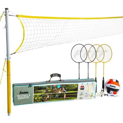 Franklin Sports Family Volleyball and Badminton Set